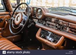 Interior of a restored 1970 Mercedes Benz 280 SL Coupe Stock Photo ...