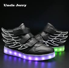Light Up Roshes Unclejerry Kids Light Up Shoes With Wing Children Led Shoes Boys Girls Glowing Luminous Sneakers Usb Charging Boy Fashion Shoes T190916 Hiking Shoes