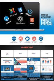 Project Proposal Presentation Web Design Development Project Proposal Powerpoint Template