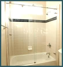 amusing frameless shower door rollers glass
