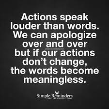 actions speak louder than words by unknown author