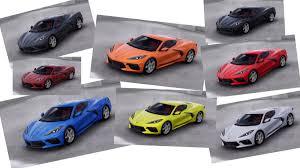 2020 Corvette C8 Paint And Interior Colors