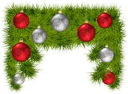 Pine Branches For Decoration Pine Branches With Christmas Balls Decoration Png Clipart Image