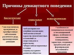 Презентация Девиантное поведение подростков  Причины девиантного поведения биологические социальные психологические наслед