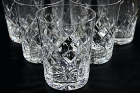 crystal rocks glasses heavy crystal decanter and rocks glasses 6 personalized crystal rocks glasses
