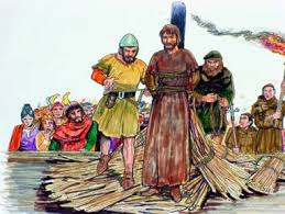Resultado de imagen de Giordano Bruno atado a una estaca de hierro