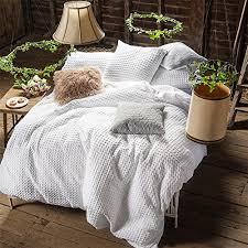 cotton waffle weave duvet cover set