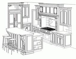 simple kitchen drawing. Perspective Drawing · Simple Kitchen