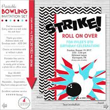 Bowling Party Invitation Bowling Party Invitation Bowling Birthday Invitation Etsy