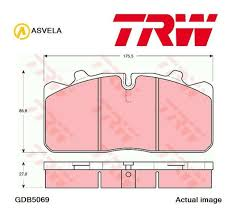 Abex Brake Lining Chart Trw Front Brake Pads Set Braking Pad Gdb5069 P Oe Replacement