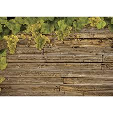 Fototapete No 1238 Vlies Wein Tapete Holzwand Holz Wand Weintrauben Braun Motiv 1238