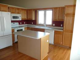 Kitchen Island Layout Light Brown L Shaped Kitchen Layout With Island Combined White