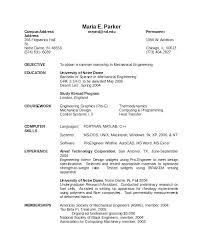 Mechanical Resume Examples Mechanical Engineering Resume Samples Doc