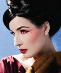 modern vine makeup on dita von teese