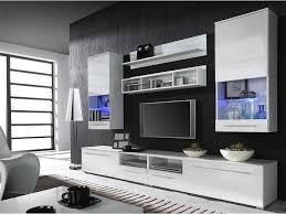 black tv wall unit