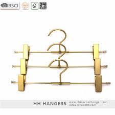 Gold Color Children Aluminium clips Metal pants Hangers,metal hanger for  baby pants display