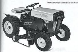 1998 craftsman riding lawn mower parts history tractors