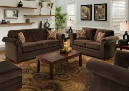 Living Room Sofa And Loveseat Sets Chocolate Fabric Modern Casual Living Room Sofa Loveseat Set