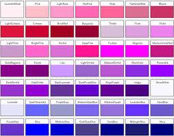 Shades Of Purple Colour Chart Module Tioga Colorconstants Rdoc Documentation