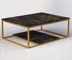 best black marble coffee table with urban ironcraft