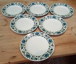 Small Picture 6 VINTAGE RETRO MIDWINTER SPANISH GARDEN TEA SIDE PLATES 6070s