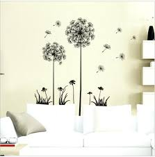 dandelion wall decor flying dandelion wall stickers living room bedroom wall art home decor decals backdrop dandelion wall decor dandelion wall art