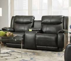 velocity double reclining sofa with console power headrest southern motion furniture home gallery