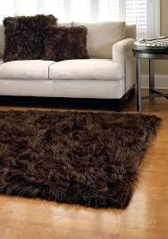 faux fur rug brown bedroom elegant faux sheepskin rug decor idea com faux fur area rug dark brown