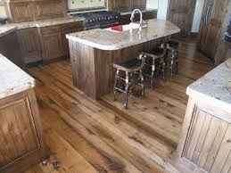 reclaimed wood kitchen flooring and surfaces