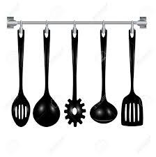 kitchen utensils silhouette vector free. Kitchen Utensils Clip Art Medium Size Silhouette Vector Free