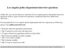 Police Officer Resume Awesome Los Angeles Police Department Interview Questions