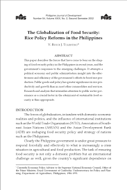 922 (an act amending sections 443, 454, and 463 of republic act no. The Globalization Of Food Security Rice Policy Reforms In The Philippines By Ronald Yacat Issuu