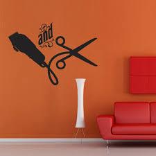 Small Picture Aliexpresscom Buy Barber Shop Sticker Scissors Clipper Hair