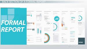 Formal Report Format Parts Effectiveness