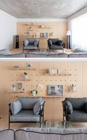Room And Board Interior Design Design Detail Peg Board Walls Have Been Used To Create