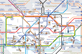 london map  london tube map with attractions  underground