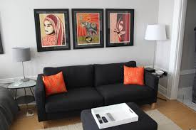 collection black couch living room ideas pictures. Simple But Elegant Living Room Black Couch Nice Art Orange Best Solutions Of Cushions Collection Ideas Pictures I