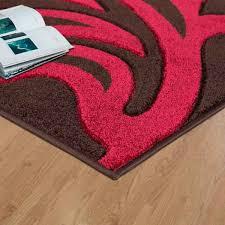 florence brown rug red 2c