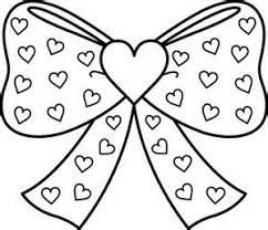 Small Picture Bow with Hearts Coloring Page Free Clip Art Coloring