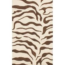 nuloom earth zebra print brown rug