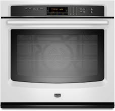 maytag mew9530aw 30 inch single electric wall oven with true convection system 5 0 cu ft capacity power preheat delay bake and bake element