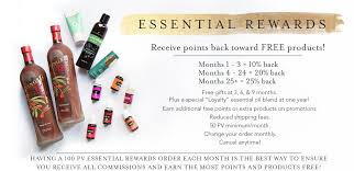 essential rewards er is young living s autoship program if you are placing monthly orders you need to be paring in this program