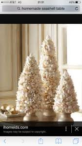 Cute shell Christmas trees. NauticalShellDecorating IdeasChristmas TreesHome  ...
