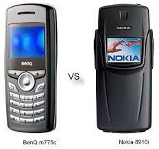 BenQ m775c vs Nokia 8910i ...