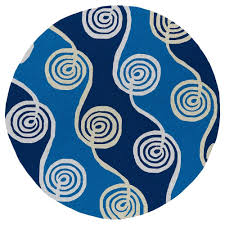 kaleen home and porch fiesta waves blue indoor outdoor round rugs rnd rug turquoise area the