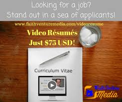 Video Resume Faithventure Media