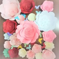 How To Make Paper Flower Backdrop 2019 Diy Full Kits Giant Paper Flowers Backdrop Butterflies Wedding