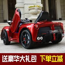 Ferrari baby car are made of hardened plastics, abs for durability and browse through the varied. Ferrari Children S Electric Car Four Wheel Remote Control Can Sit Large Baby Boys And Girls 1 3 Years Old 4 Wheel Toy Car
