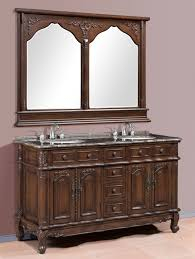 double vanity with two mirrors. classic brown 60 inch double bathroom vanities with two mirrors and handle brushed nickel vanity