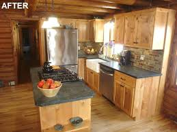 best log cabin kitchens ideas on siding photo of kitchen small id